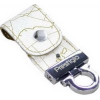 USB-накопитель Prestigio Leather Flash Drive NAND Flash 8 GB, White Map Feature