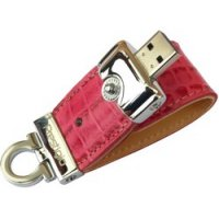 USB-накопитель Prestigio Leather Flash Drive NAND Flash 8GB, PinkCrocodile Skin