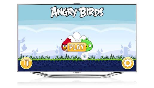 Samsung представляет приложение Angry Birds для телевизоров Samsung Smart TV с поддержкой управления жестами