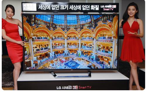 LG первый в мире 84-дюймовый 3D-телевизор